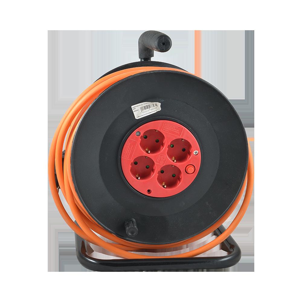 Tambur derulator de cablu Comtec, 4 prize, 3 x 2,5 mm, 40 m mathaus 2021