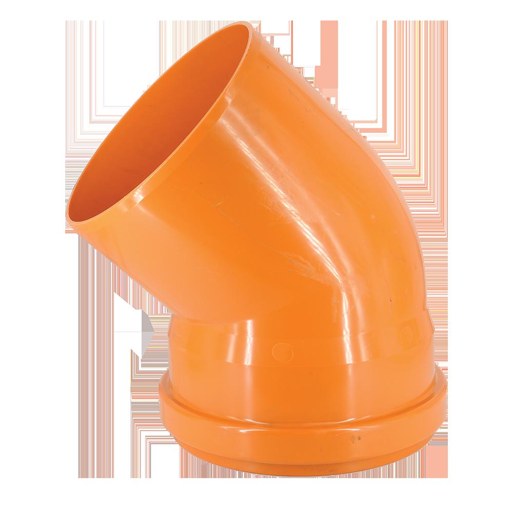 Cot PVC pentru canalizare exterioara Valplast, 250 mm, 45 grade mathaus 2021