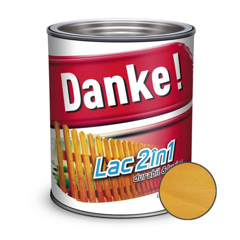 Lac pentru lemn 2 in 1, Danke!, fag, interior/exterior, 0.75L