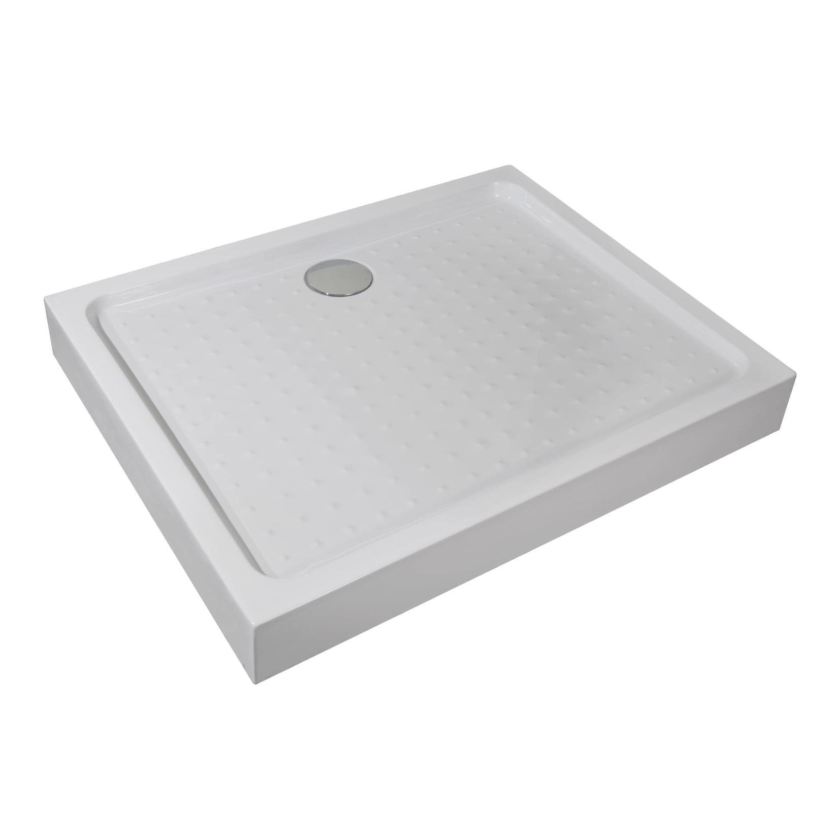 Cadita de dus Sanotechnik, ABS, alb lucios, dreptunghiulara, 70 x 90 x 12.5 cm imagine 2021 mathaus