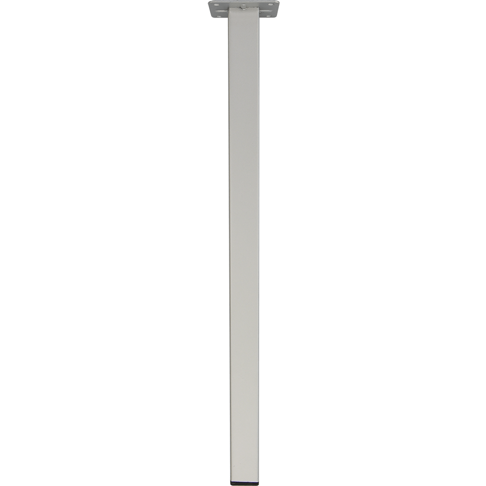 Picior patrat pentru masa, metal, aluminiu, 400 mm imagine 2021 mathaus