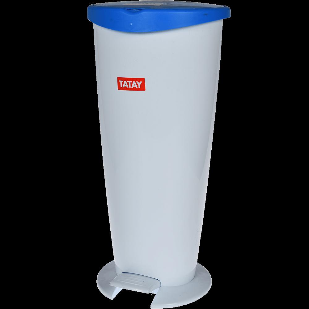 Cos gunoi Tatay 2000, plastic, alb-albastru, 6 l