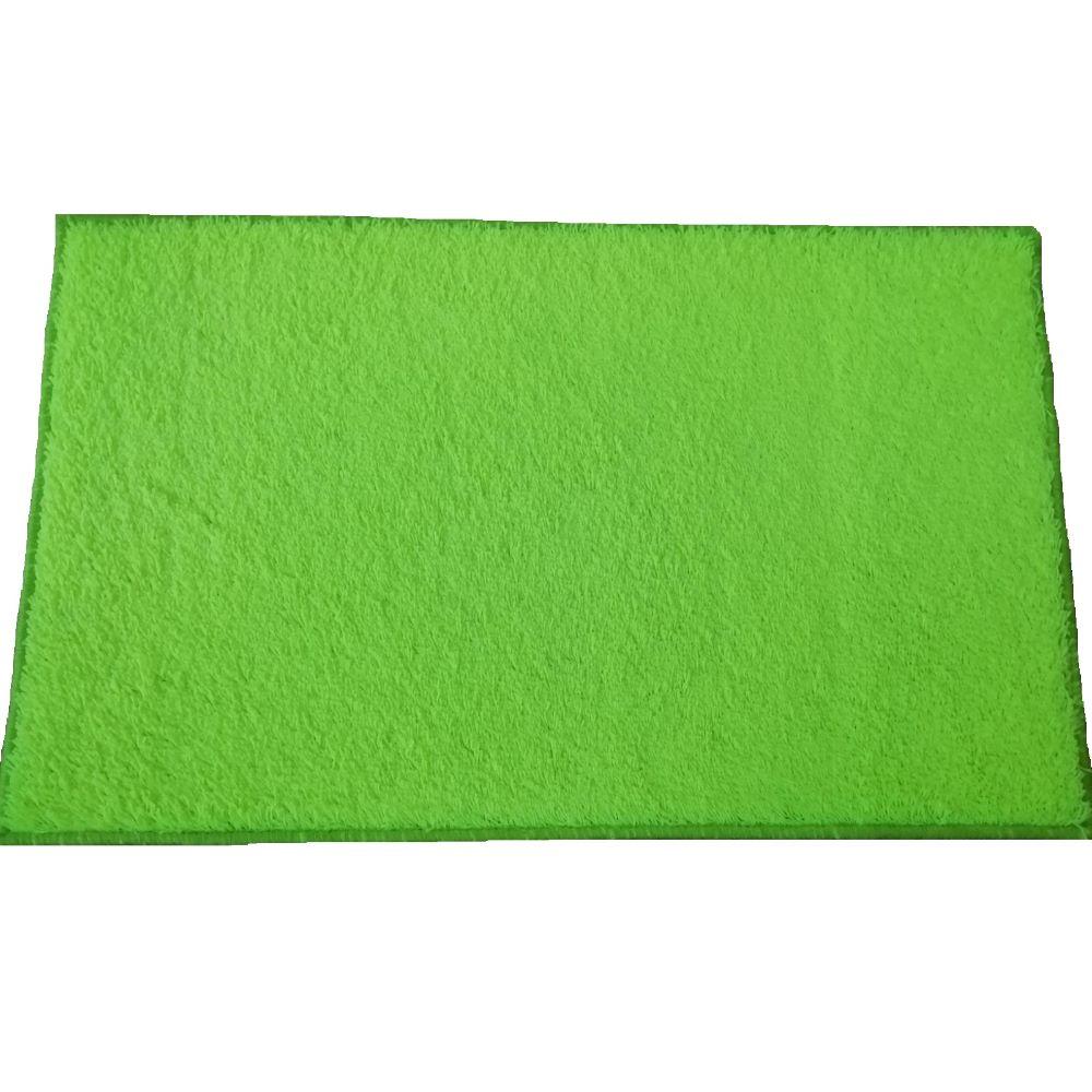 Covor dreptunghiular Mistral, polipropilena, model verde neon, 50 x 80 cm imagine MatHaus.ro