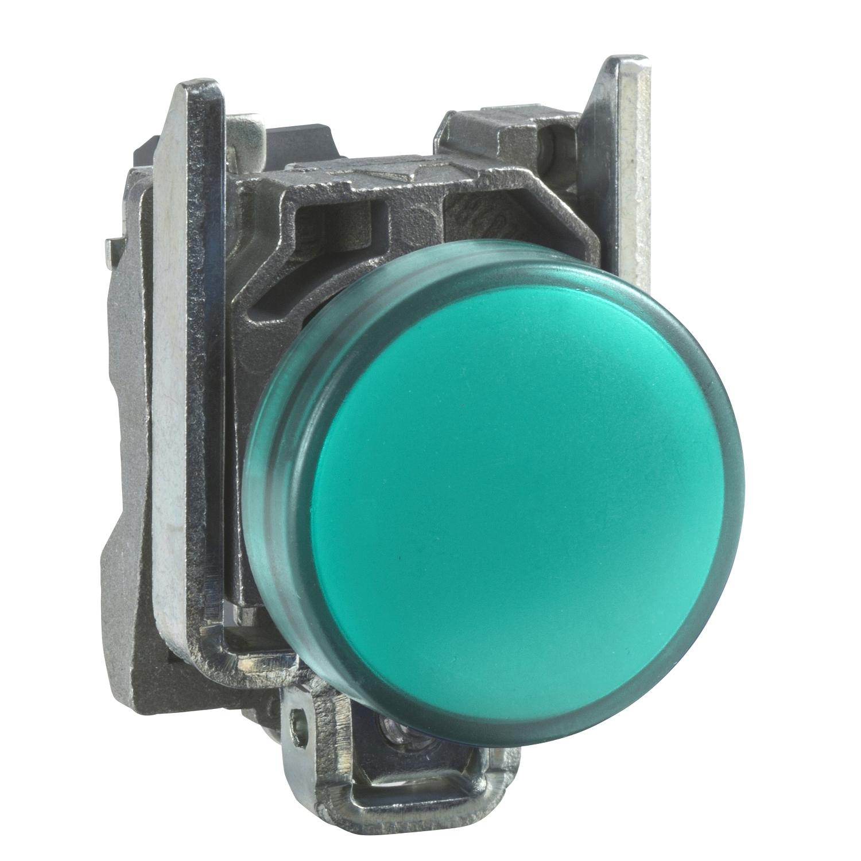 Lampa semnalizare Schneider XB4BVM3, verde, 230 V imagine MatHaus