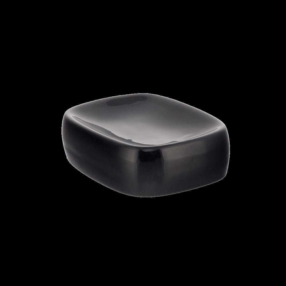 Savoniera, ceramica, negru, 12 x 9,5 x 4 cm mathaus 2021