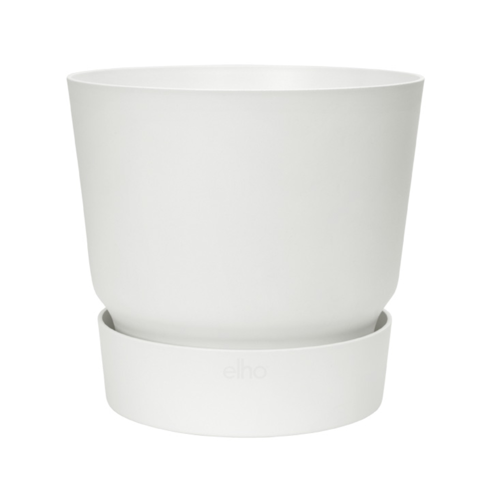 Ghiveci Elho Greenville, plastic, alb, 55 l, diametru 47 cm, 41.1 cm imagine MatHaus.ro
