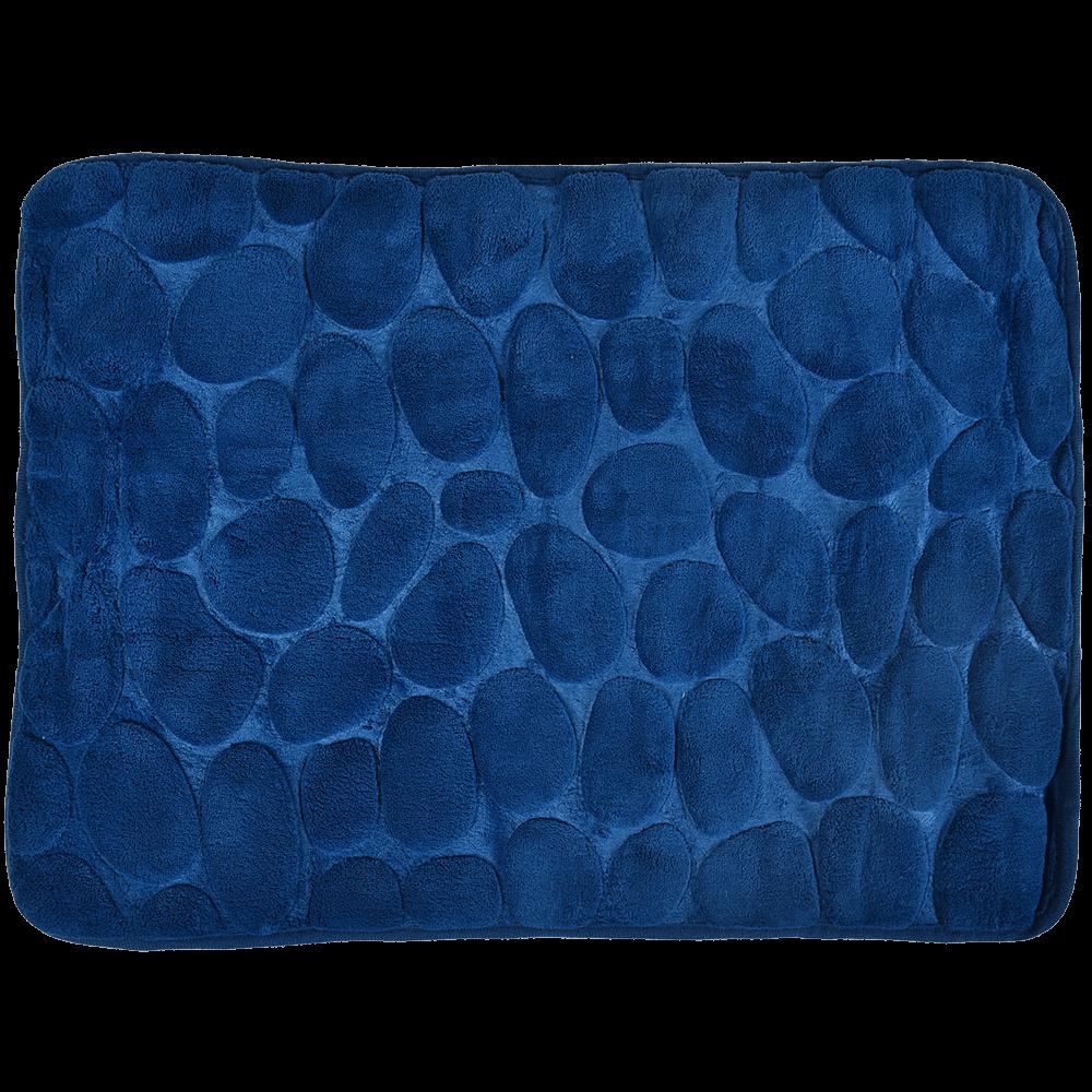 Covoras de baie, microfibra 100%, albastru, 40 x 60 cm