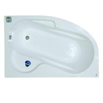 Cada de colt pe stanga Silvana, acril sanitar, alb, 1500 x 1000 mm