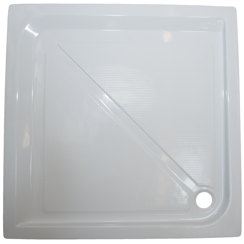 Cadita de dus Fibrex, acril sanitar, patrata, 90 x 90 x 13 cm imagine 2021 mathaus