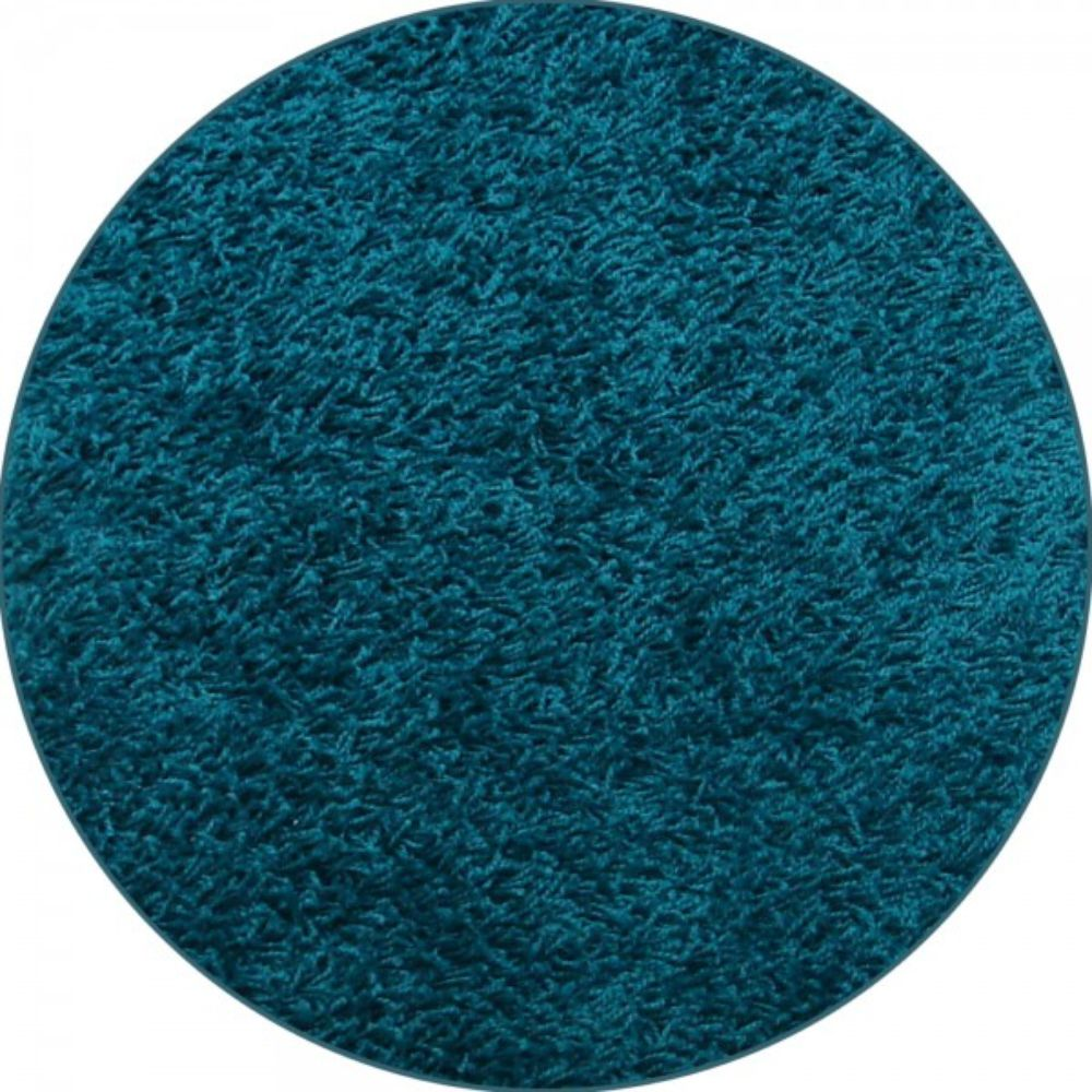 Covor rotund Mistral, 100% polipropilena friese, model modern aqua albastru 46, 133 cm