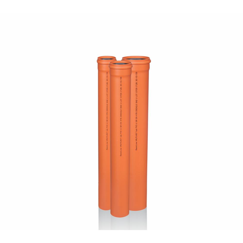 Tub PVC Valplast, SN2, DN 250, L 1 m imagine 2021 mathaus