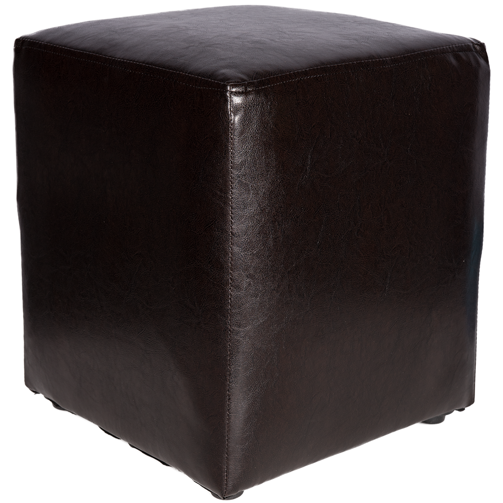 Taburet Cube tapiterie piele ecologica wenge IP 21835 45x37x37 cm