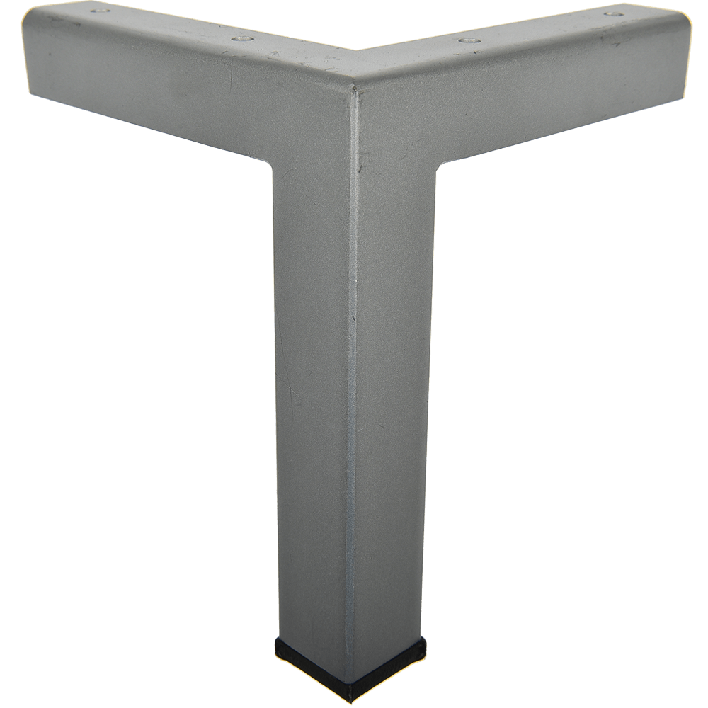 Picior pentru canapea, metal cromat mat,  30 x 30 mm, H: 170 mm imagine MatHaus.ro