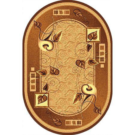 Covor clasic Gold 320/12 O, polipropilena BCF, bej-maro, 100 x 200 cm