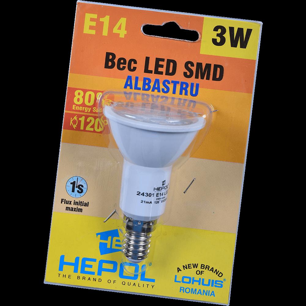 BEC LED R50 E14 3W ALBASTRU mathaus 2021