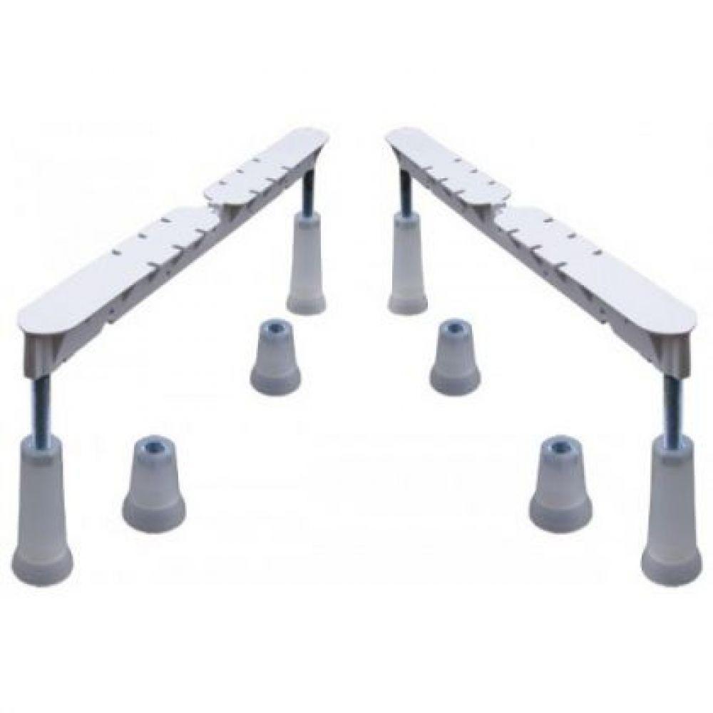 Sistem de picioare Roca compatibil Nolah/Tazia, metal, cromat, 150 - 600 mm