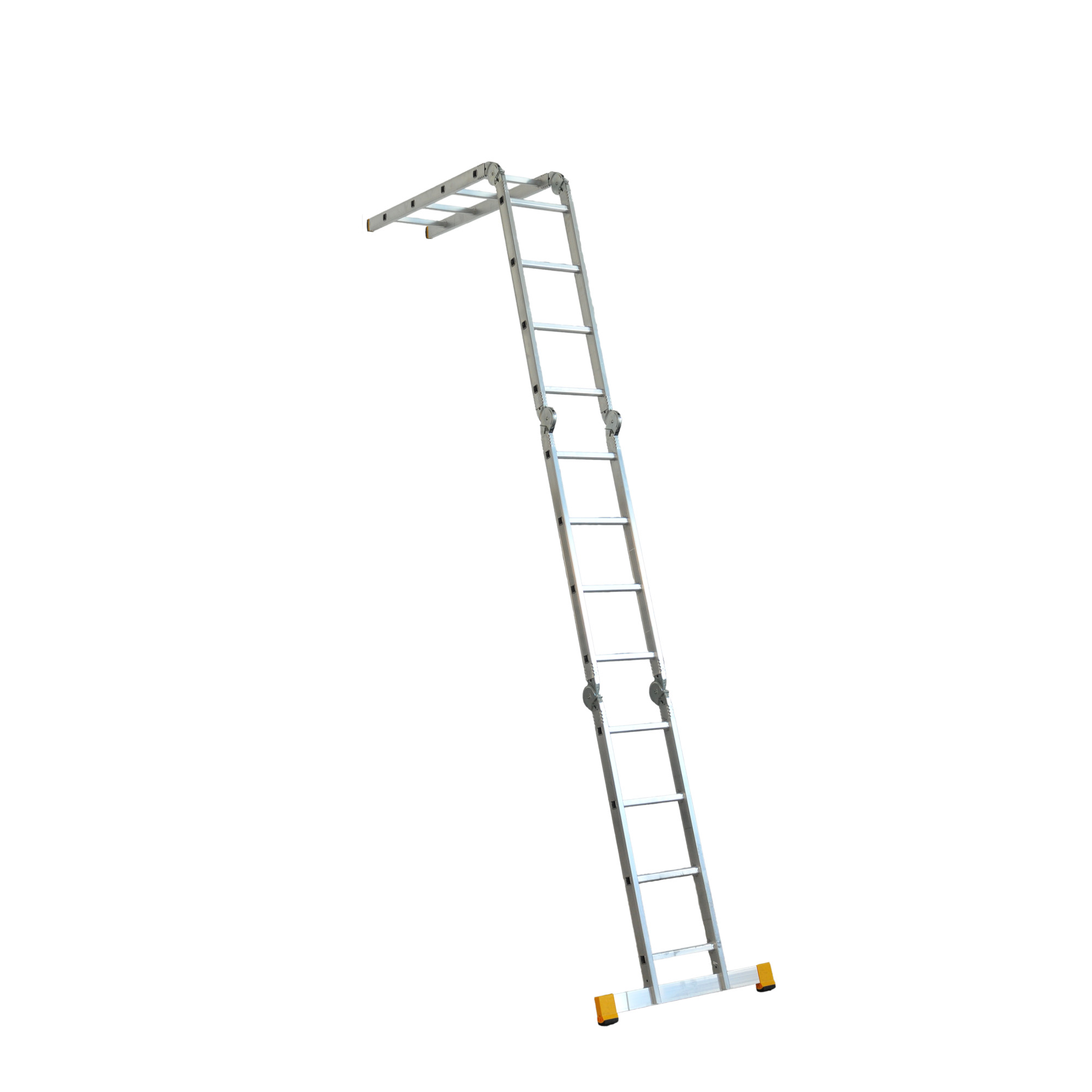 Scara aluminiu articulata Alverosal, 4 x 4 trepte, lungime 4.63 m, latime 350 mm imagine 2021 mathaus