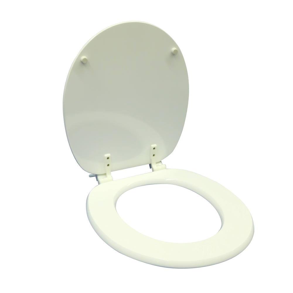 Capac pentru WC Savinidue CWATP, MDF, alb, balamale plastic