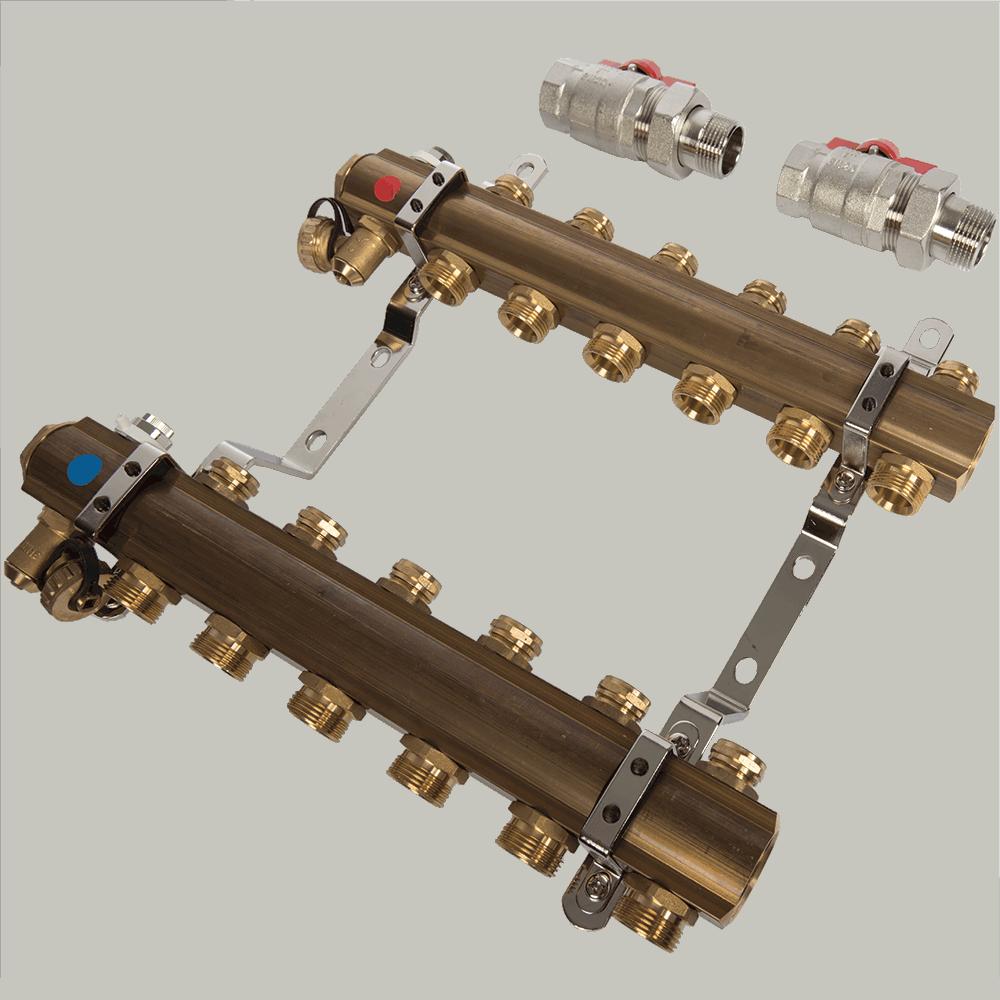 Distribuitor RO06 Ferro, 6 circuite, alama, 1 inch