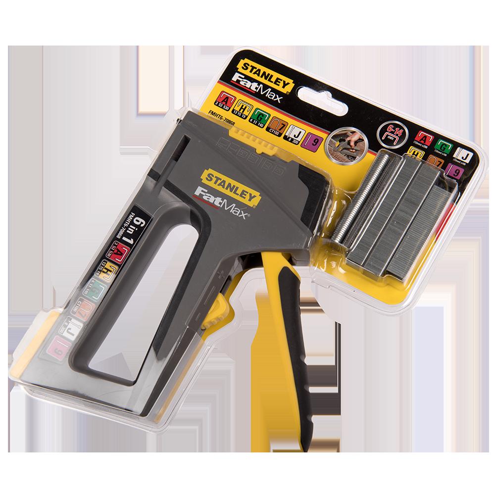 Capsator manual, plastic ABS, pentru bricolaj, Stanley FatMax TR 75 6, pentru capse A, H, G, 7, cuie de tip J, 9
