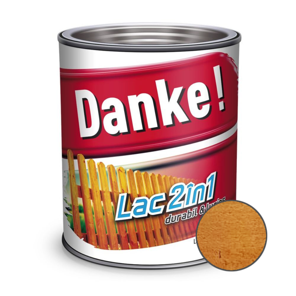 Lac pentru lemn 2 in 1, Danke!, cires, interior/exterior, 0.75L mathaus 2021