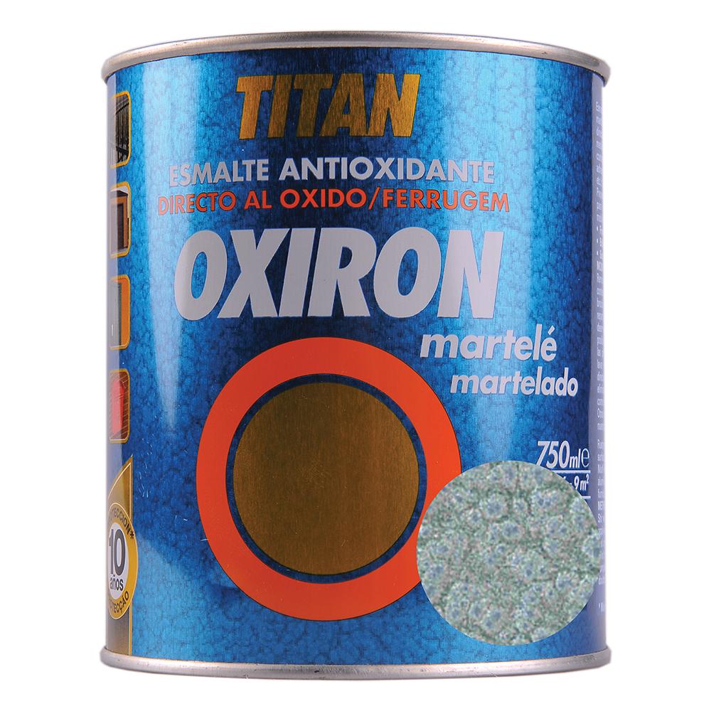 Email metal Titan Oxiron, lovitura de ciocan, gri argintiu, interior/exterior/, 0,75 l