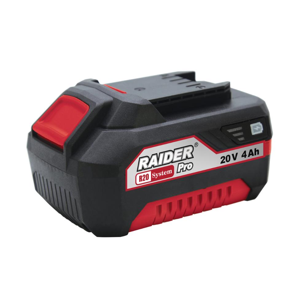 Acumulator pentru masina de gaurit Li-Ion, 20 V, 4 Ah, compatibil Raider RDP-R20 mathaus 2021