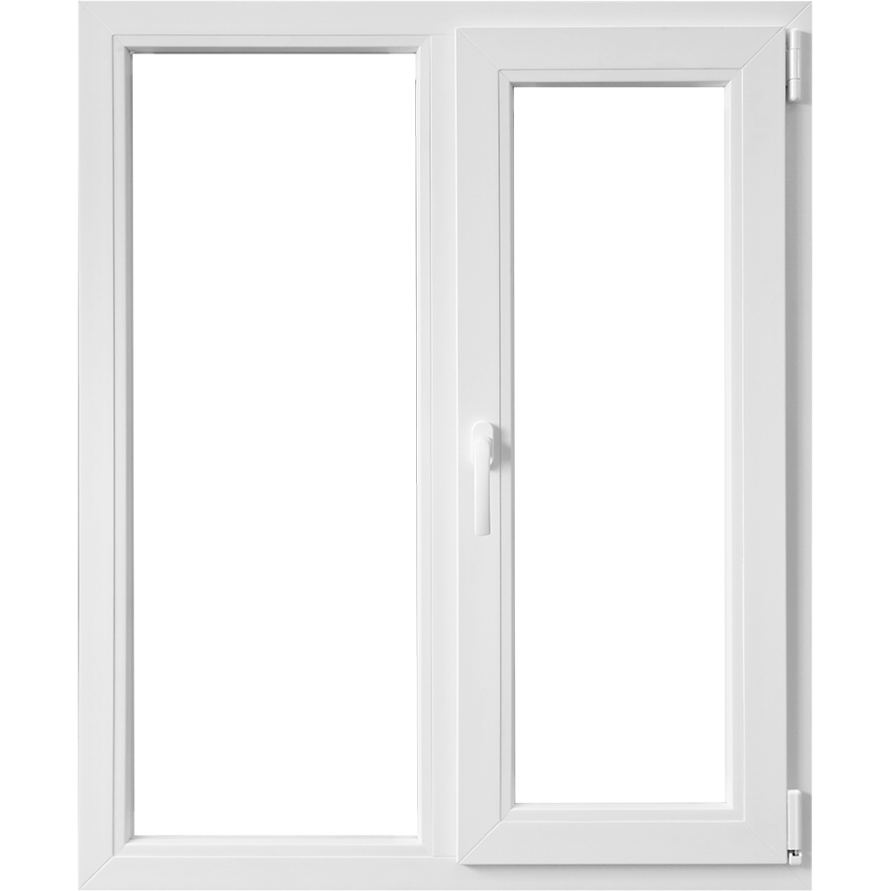 Fereastra PVC, 5 camere, alb, 100 x 100 cm imagine MatHaus.ro