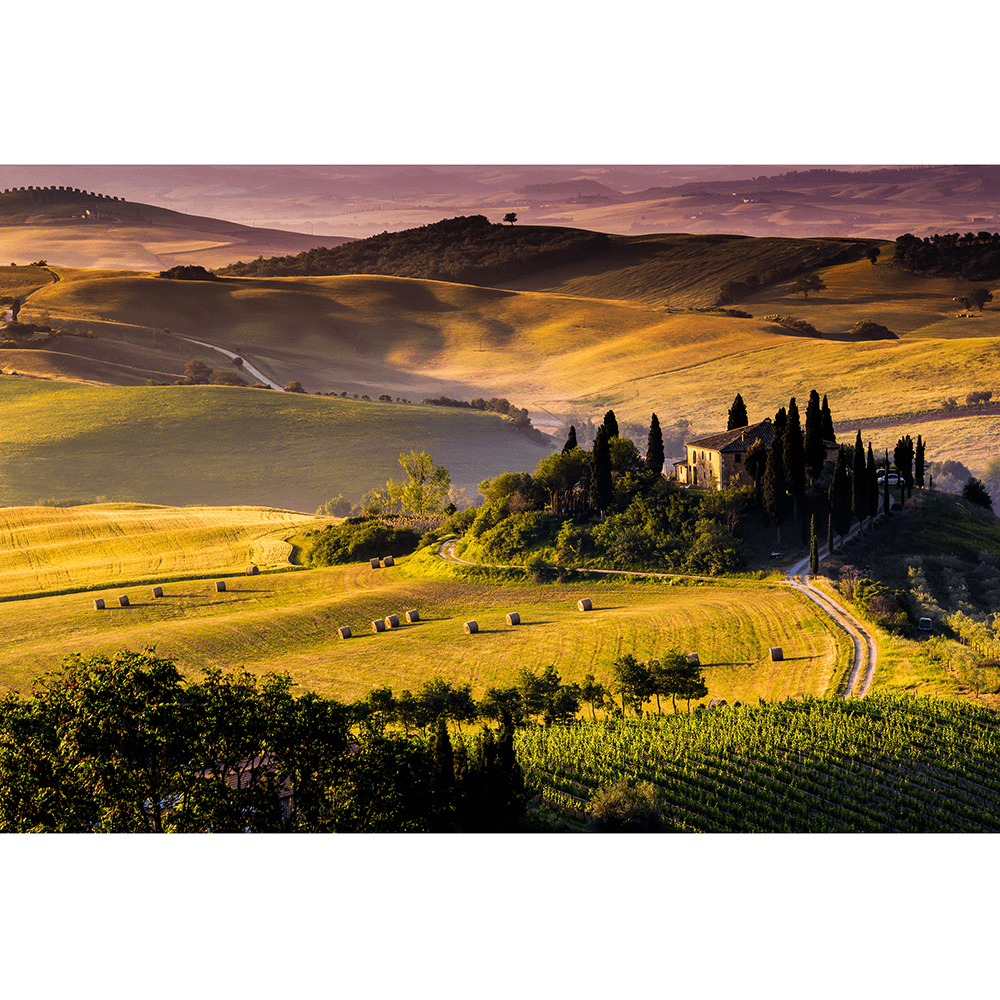 Fototapet duplex Tuscany, 368 x 254 cm imagine MatHaus.ro