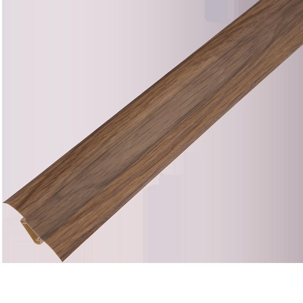 Plinta prchet, cu canal dublu, PVC, stejar deschis, 2500x55x22.5 mm imagine MatHaus
