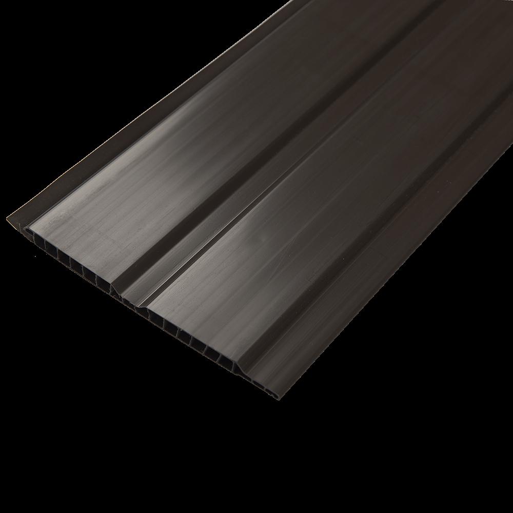Lambriu PVC laminat, Helopal, brun, 3000 x 125 x 8 mm