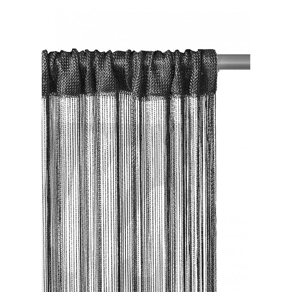 Perdea de ata, negru, 300 x 290 cm imagine 2021 mathaus