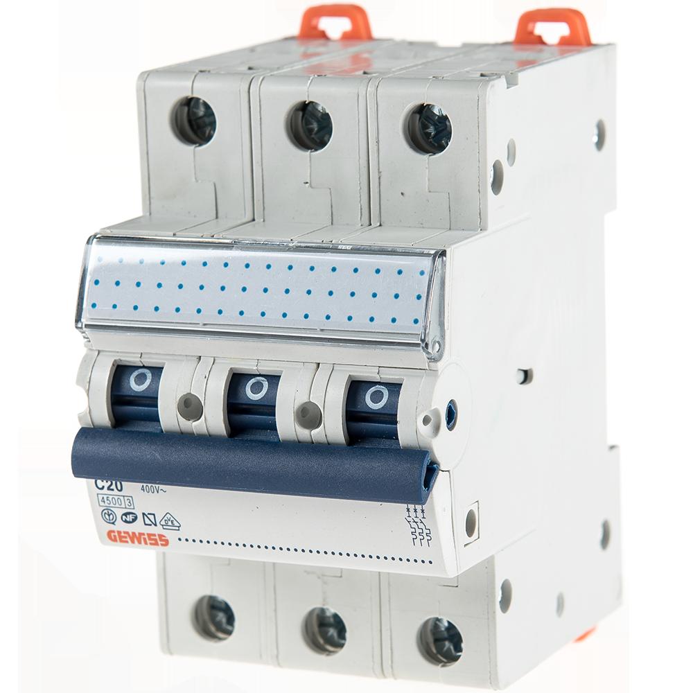 Disjunctor MCB 3P 4.5KA C20 GW92169 mathaus 2021