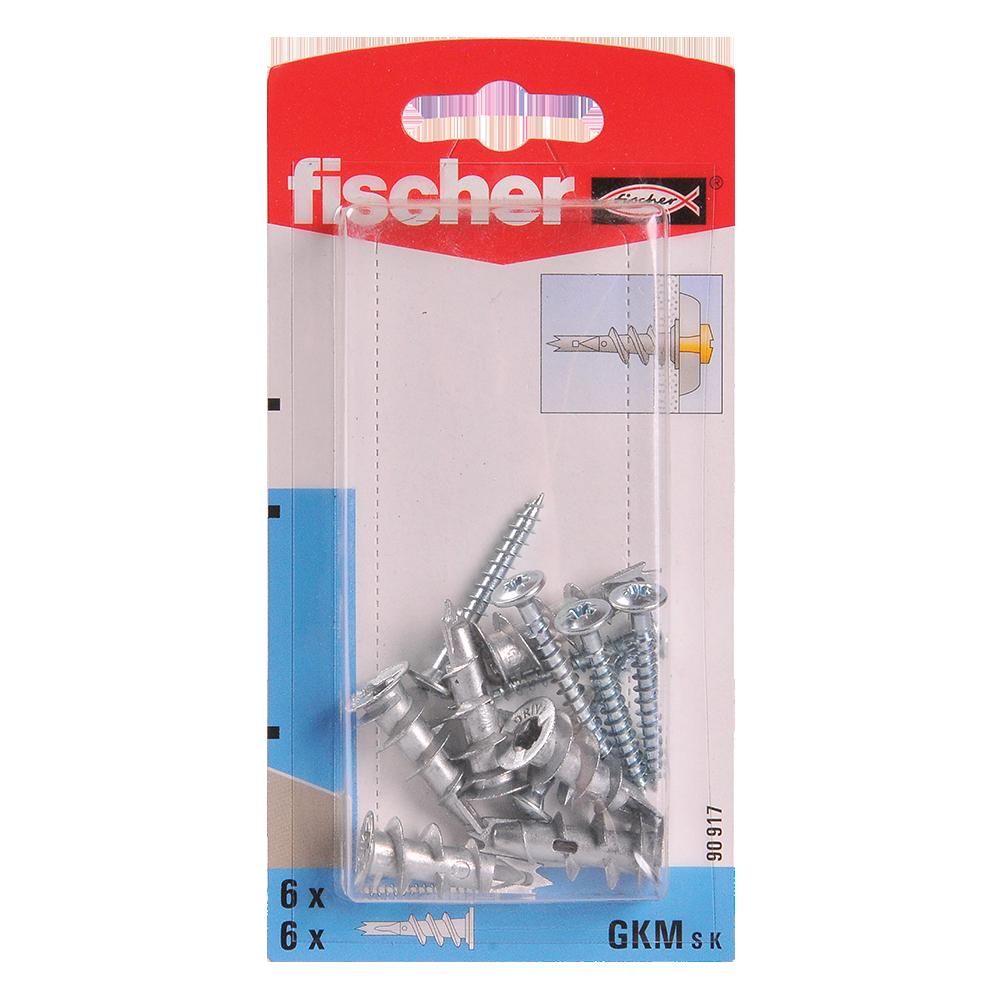 Diblu autofiletant din metal cu surub, Fischer GKM S K, 31 mm, 4.5 x 35 mm, 6 buc