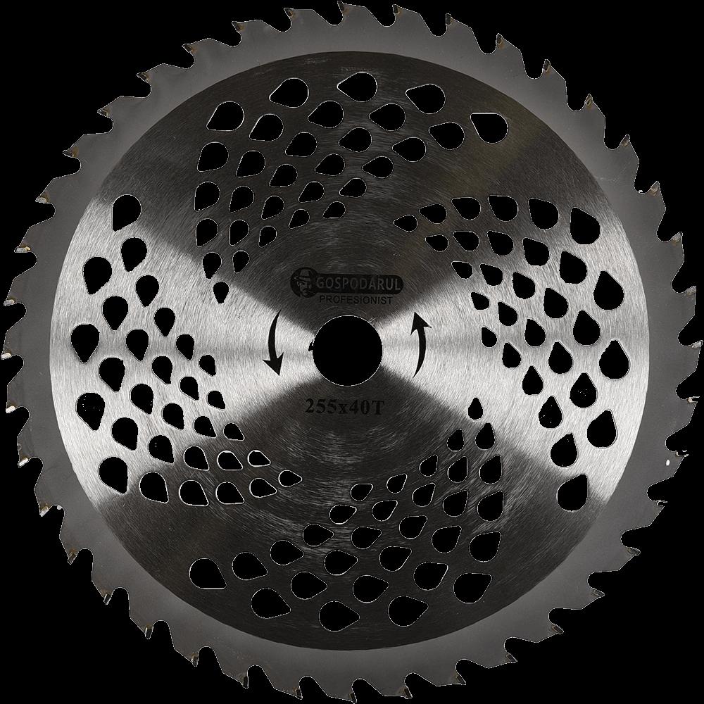 Disc taietor Vidia mare 40 T, cu aripioare, 250 x 25.4 mm, 40 dinti imagine MatHaus.ro