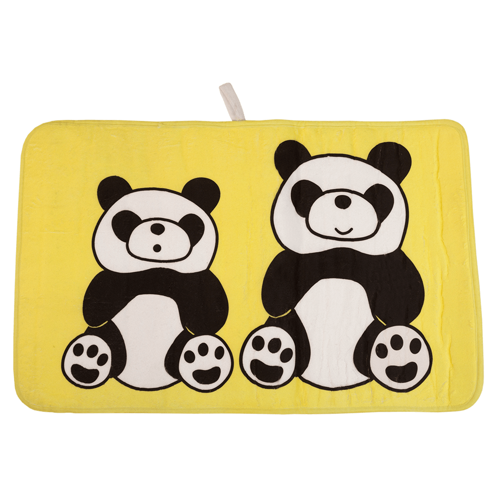 Covoras de baie, microfibra, model panda, 45 x 75 cm