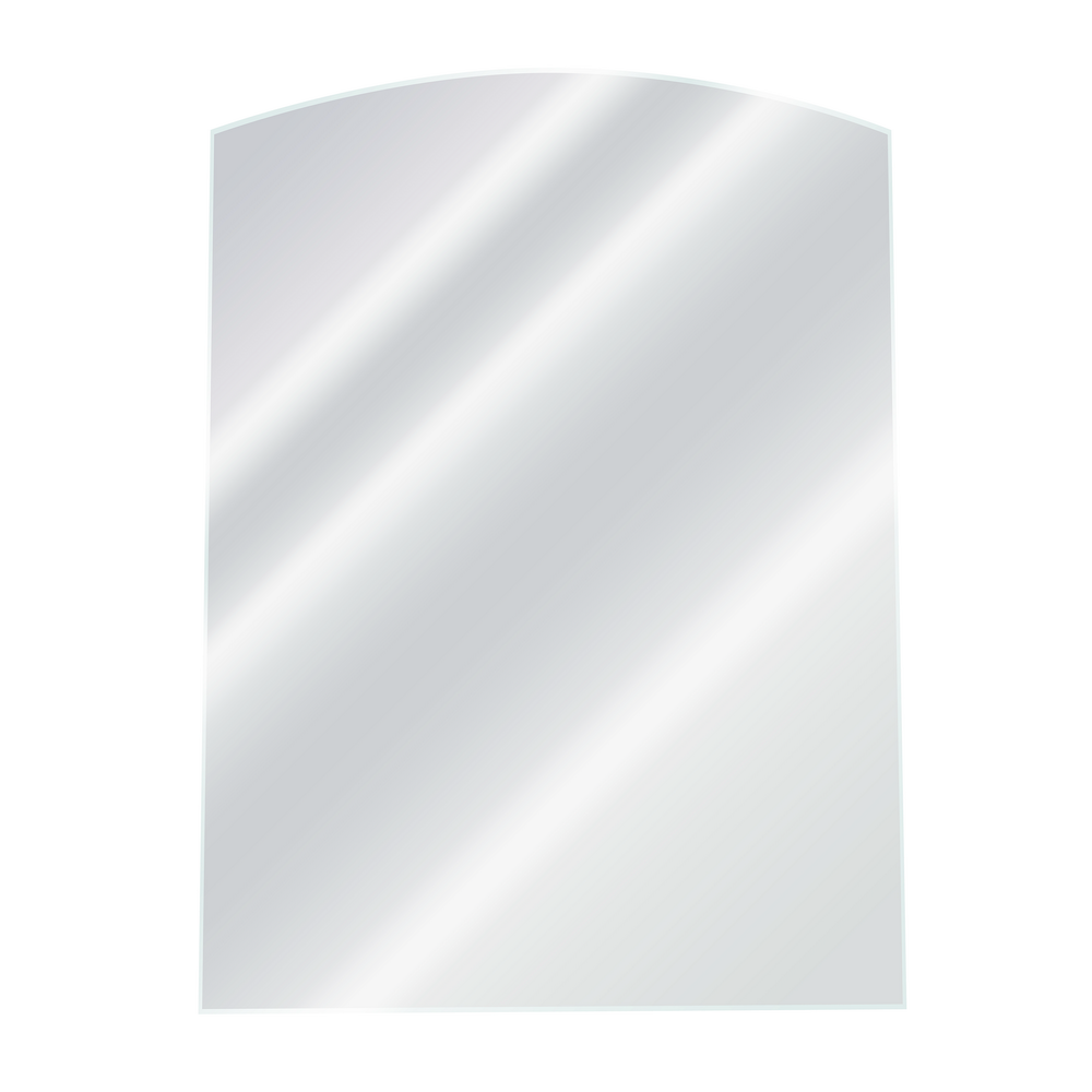 Oglinda de baie Gobe YH-8006, clasic, sticla, alb, 70 x 50 cm