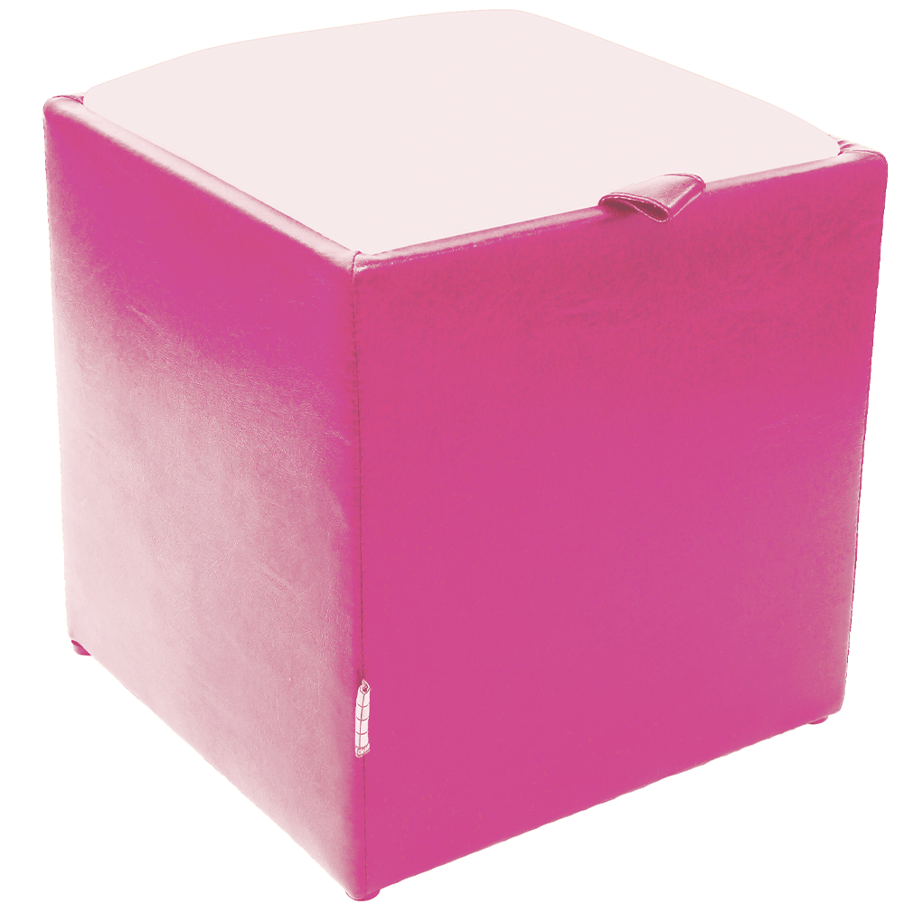 Taburet Box alb/ mov Ip, 37 x 37 x 42 cm imagine MatHaus.ro