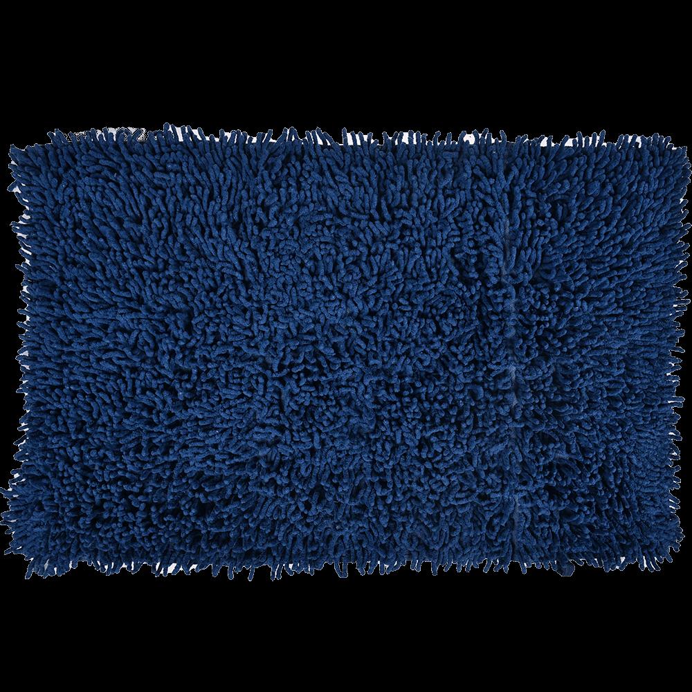 Covoras baie, bumbac 100%, albastru, 50 x 80 cm