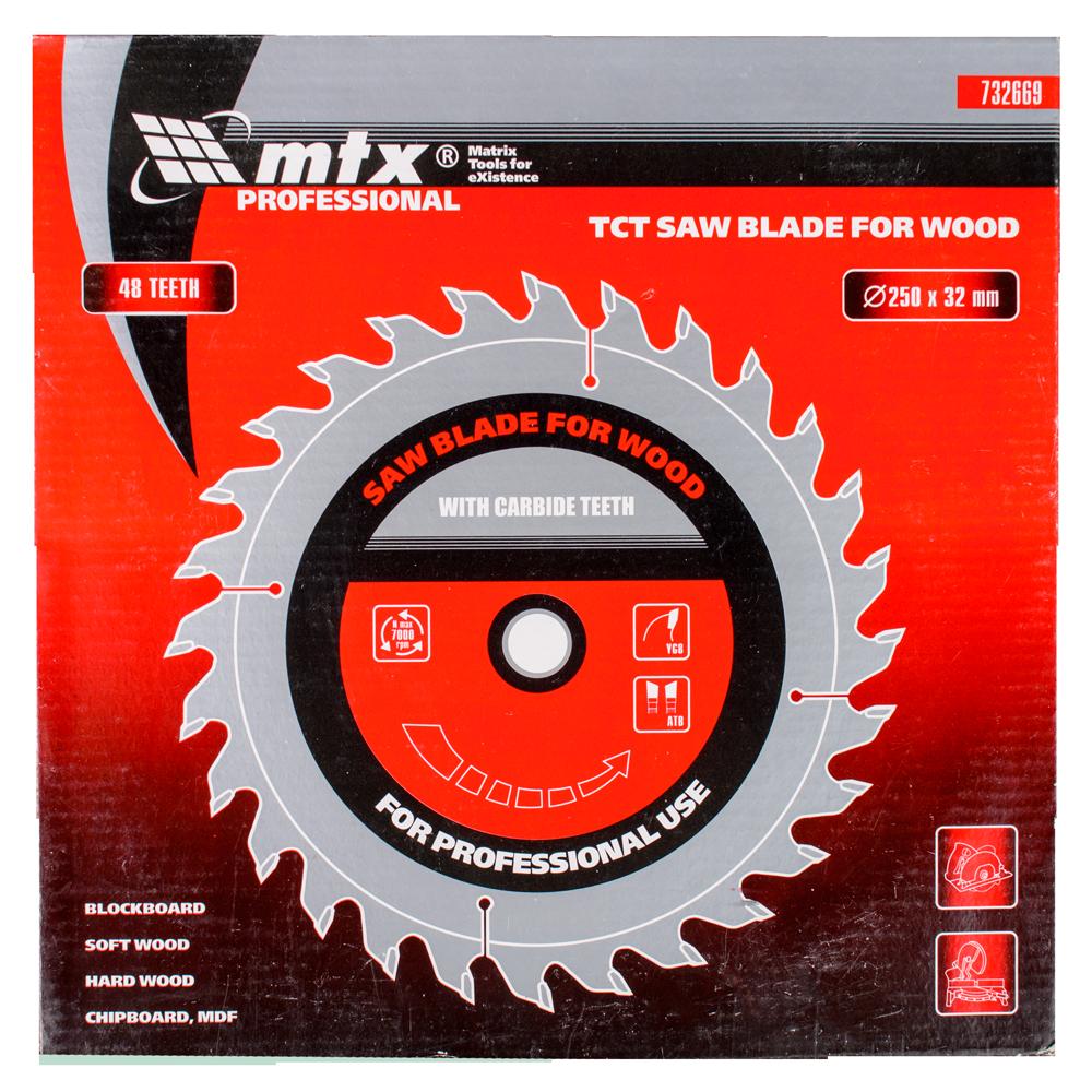 Disc 48 dinti, pentru lemne, Mtx, 250 mm