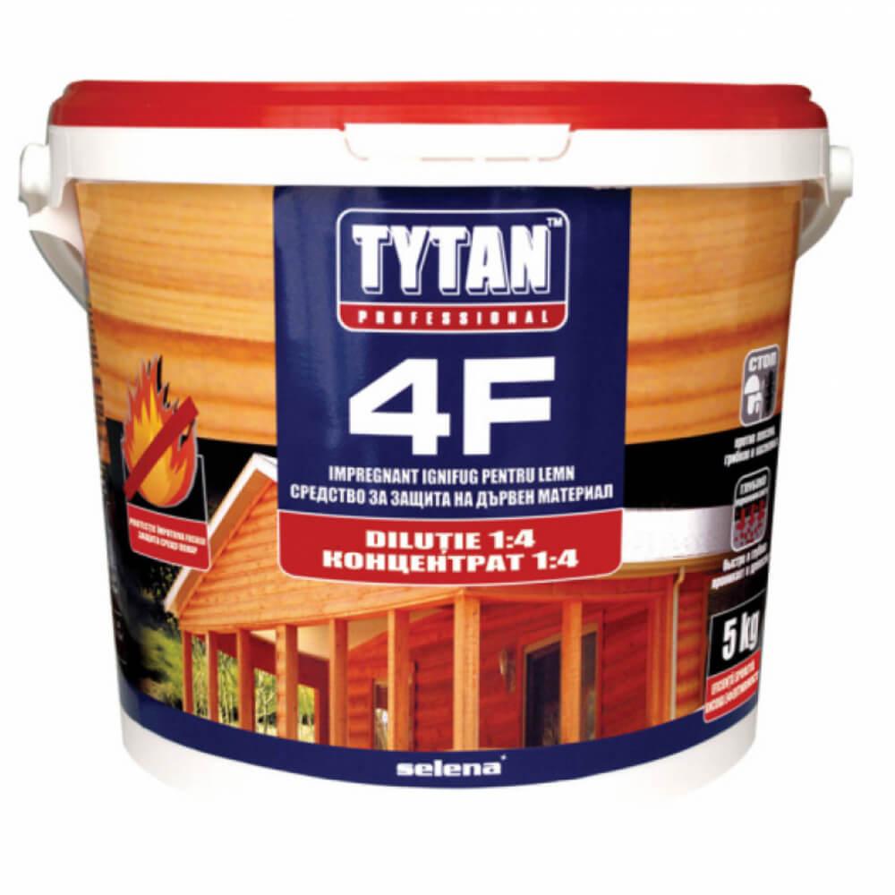 Impregnant ignifug pentru lemn Tytan 4F, 1 kg, consum 1 kg/5m²