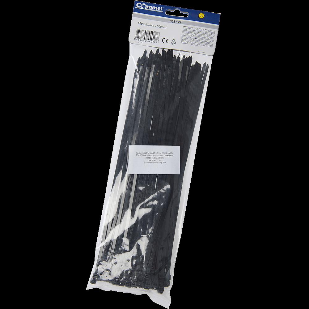 Colier PVC, 4,7mm, 300mm, negru, 100 bucati mathaus 2021