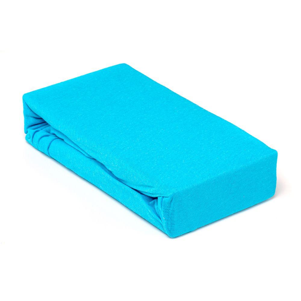 Husa saltea Jersey turcoazj, cu elastic, bumbac, 180x200 cm imagine 2021 mathaus