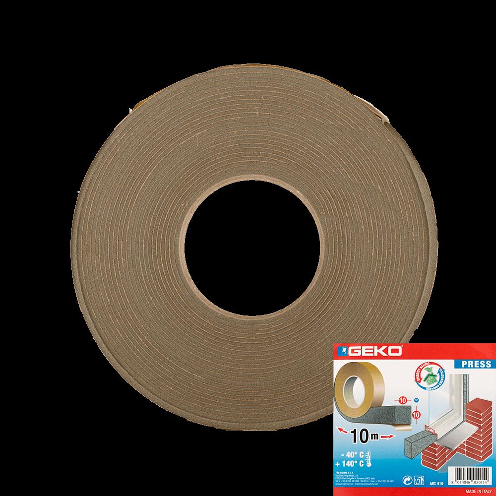 Garnitura adeviza Geko Press, spuma expandata, 10 x 10  mm x 10 m imagine 2021 mathaus