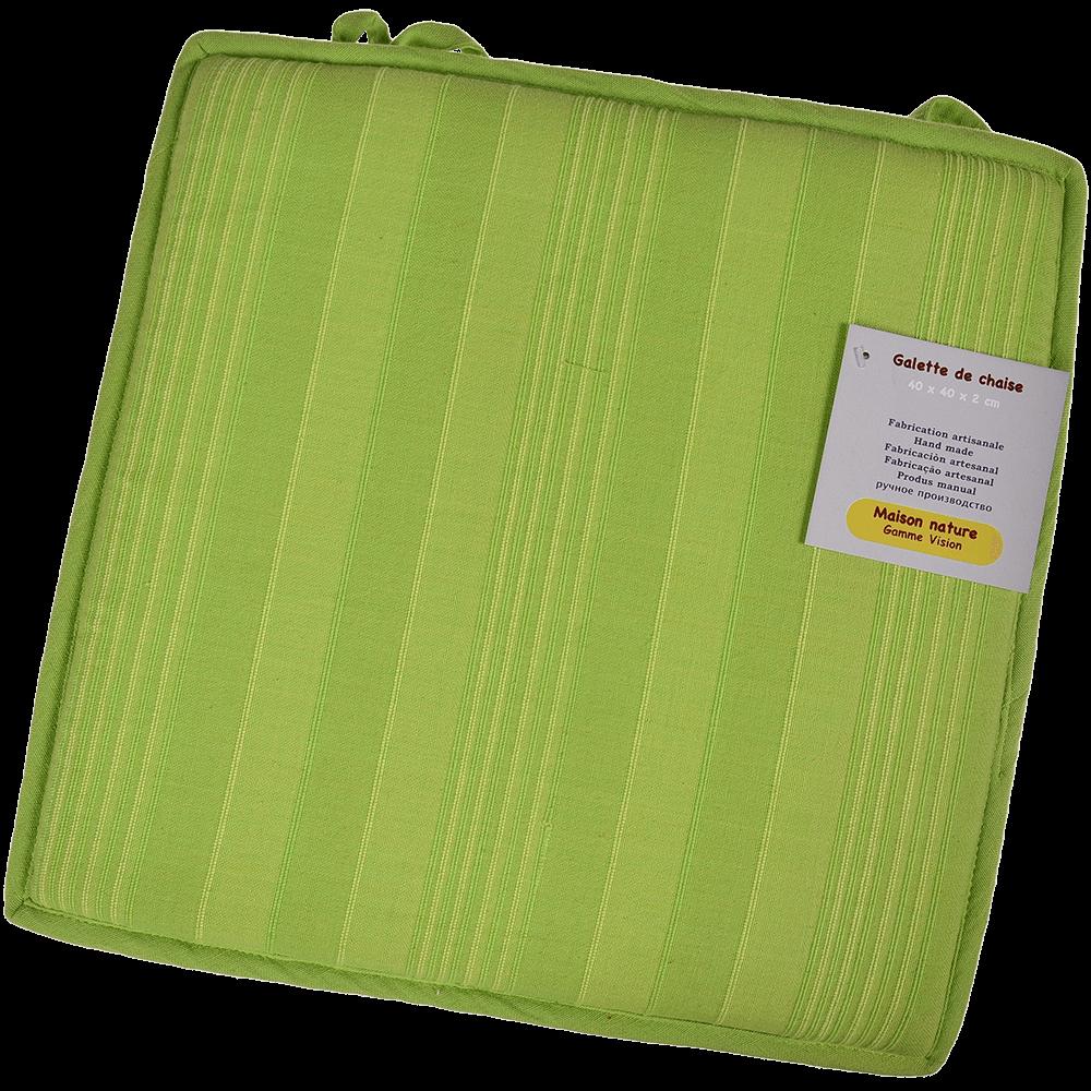 Perna scaun Vision verde, 40 x 40 x 2 cm, patrata
