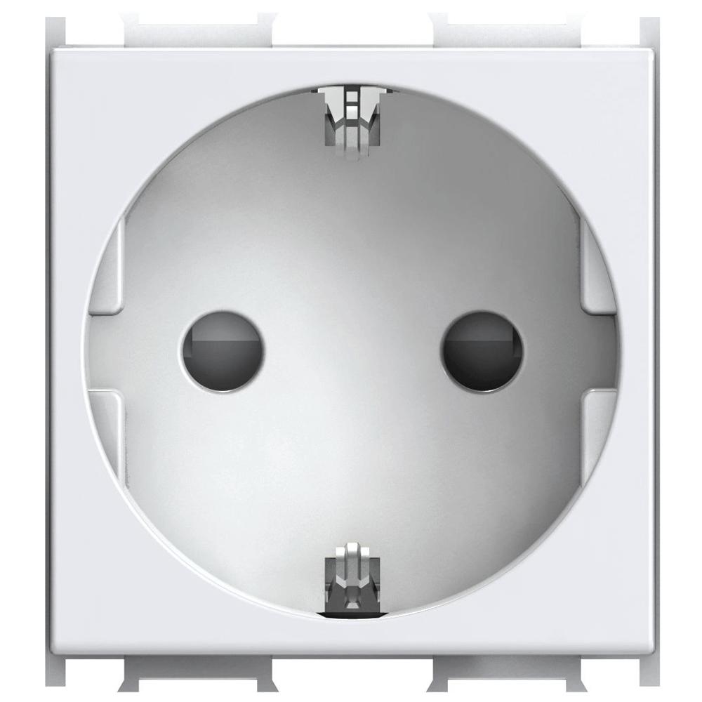 Priza simpla Modul Cp 2M alb imagine 2021 mathaus