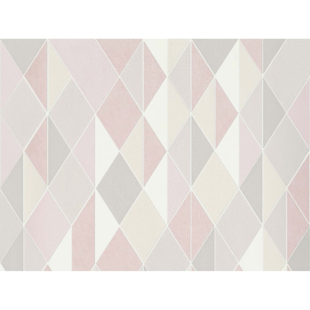 Tapet vinil Milano 220212, roz, model geometric, 10 x 0.53 m