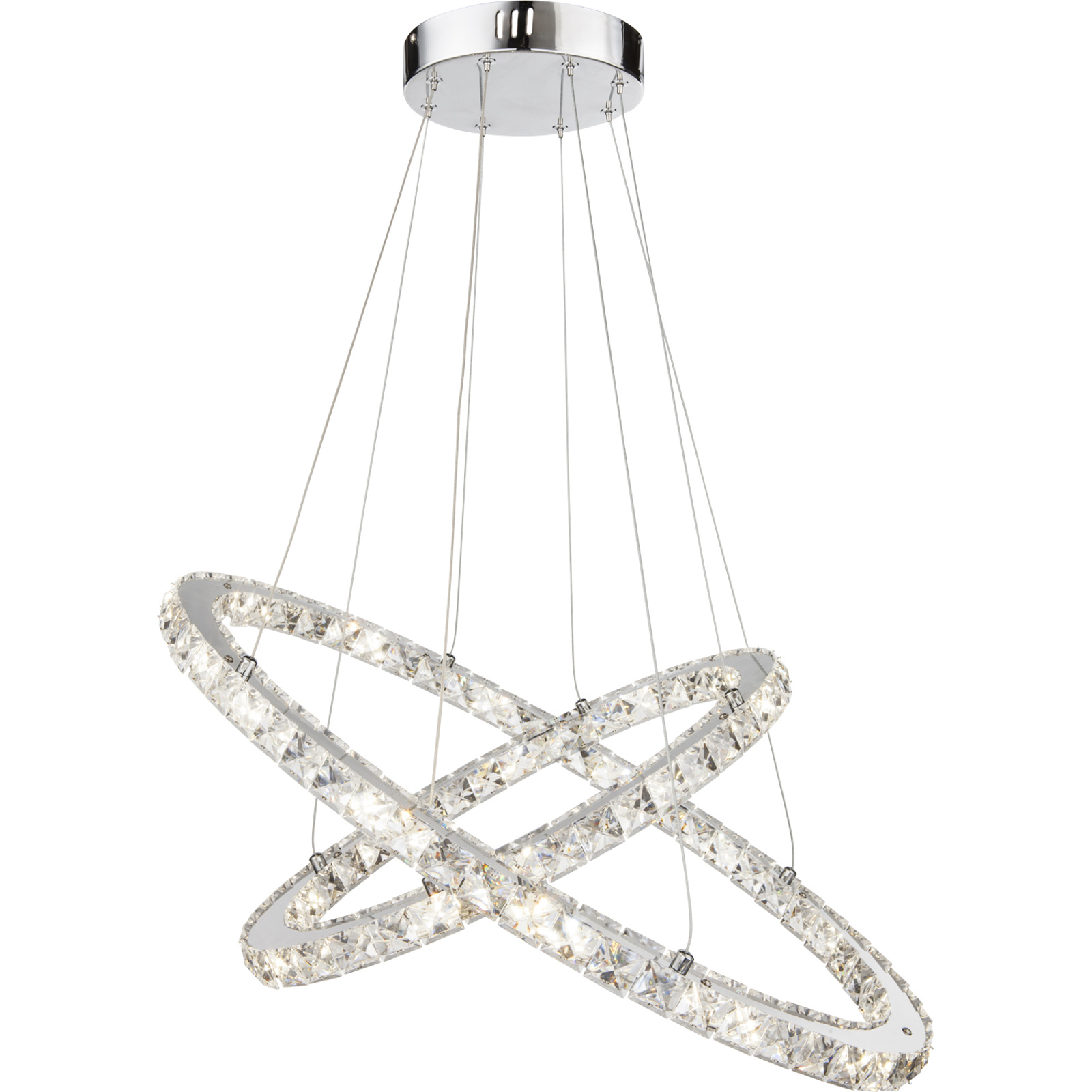 Lustra Marilyn I, bec LED 48W, cromat, 150 x 50 x 70 cm mathaus 2021