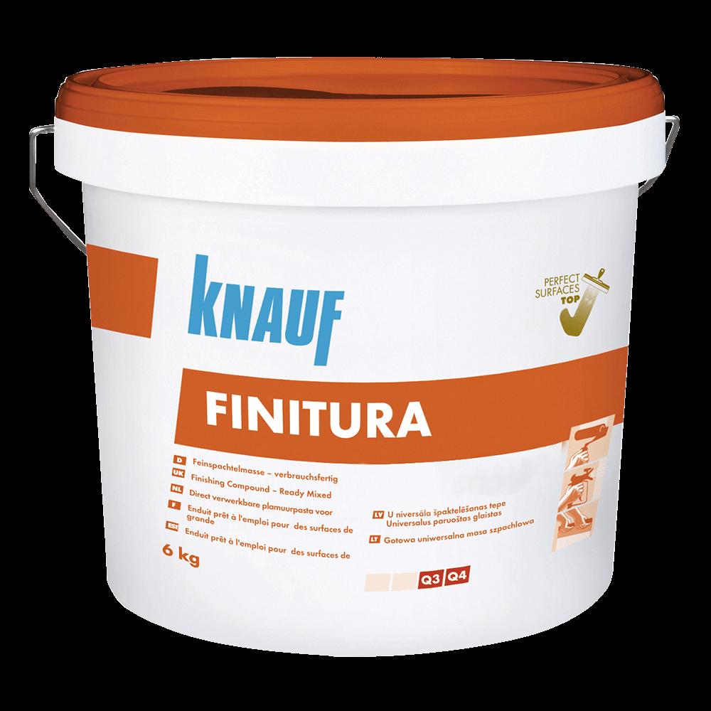 Glet universal gata preparat pentru interior Knauf Finitura, 0,35 kg/mp/strat, 6 kg