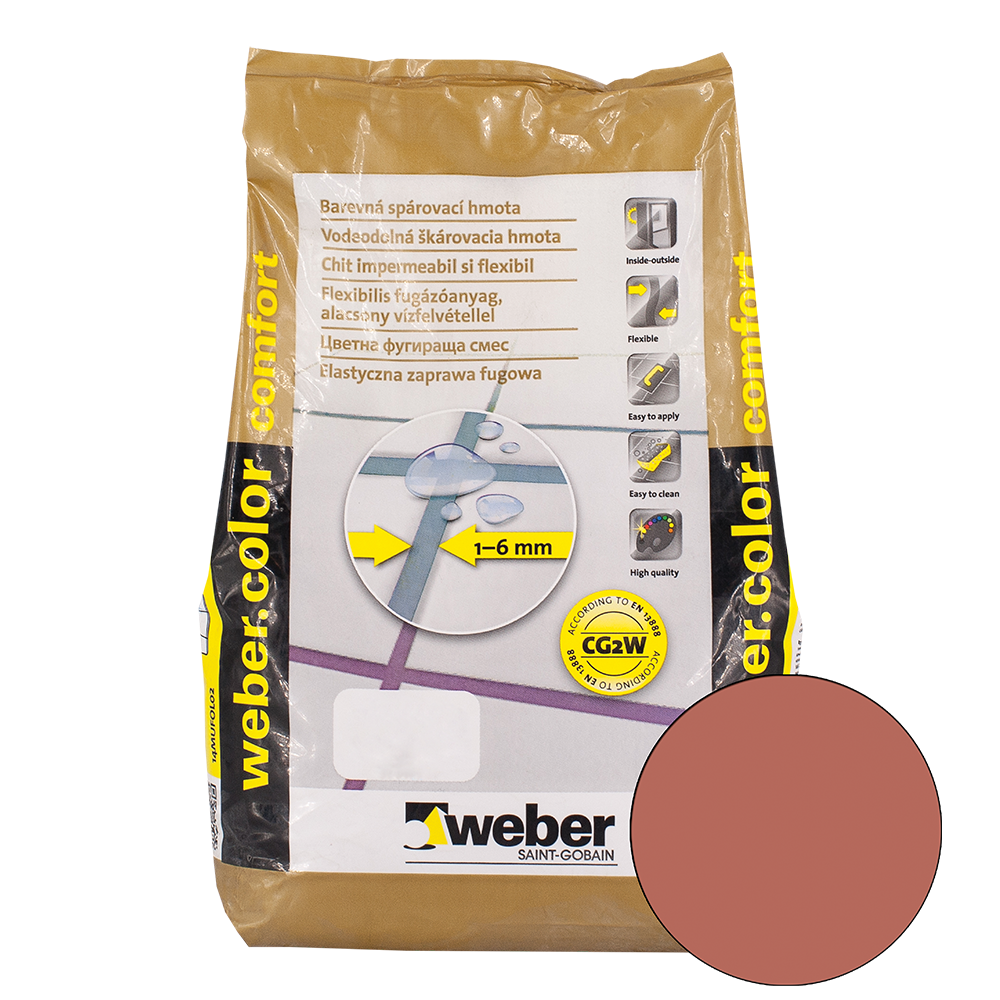Chit de rosturi Weber Color Comfort, cacao, 2 kg imagine 2021 mathaus